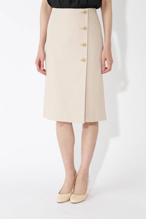 [洗える]サイドボタンスカート