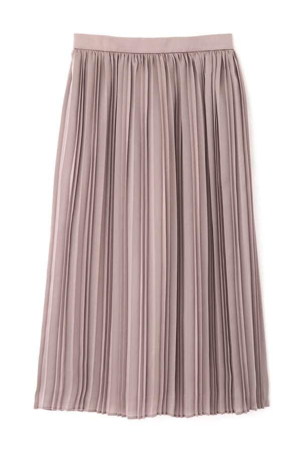 ランダムプリーツサテンスカート