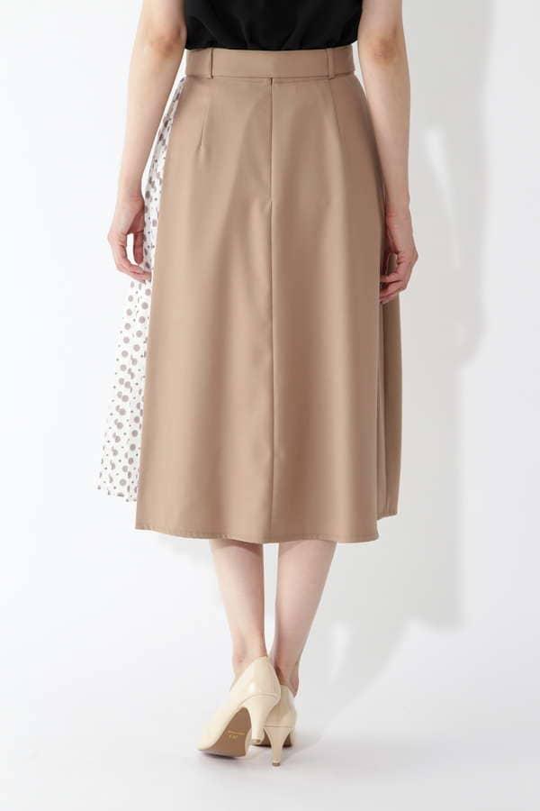 小紋プリント切り替えスカート