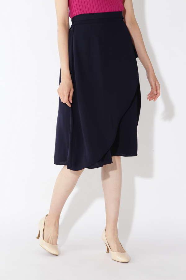 [洗える]アシメフレアスカート