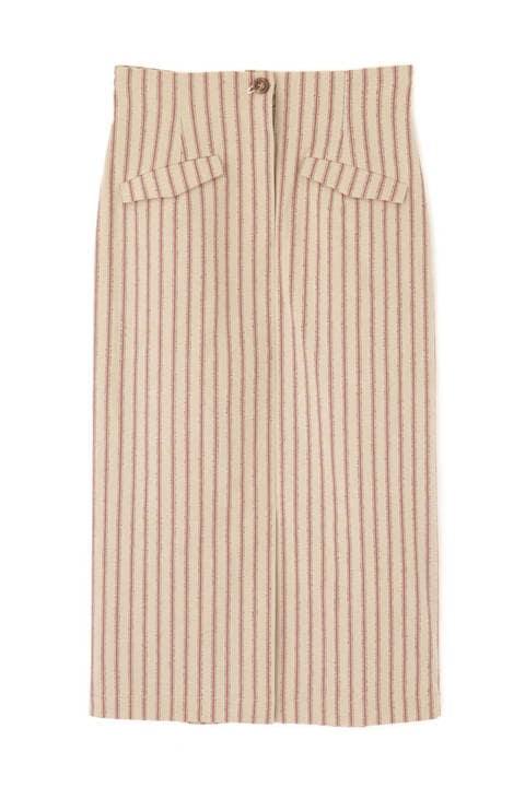 【先行予約_5月上旬-中旬入荷予定】ラスティックストライプナロースカート