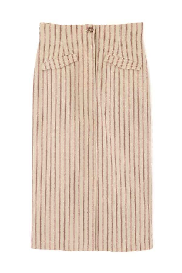 ラスティックストライプナロースカート