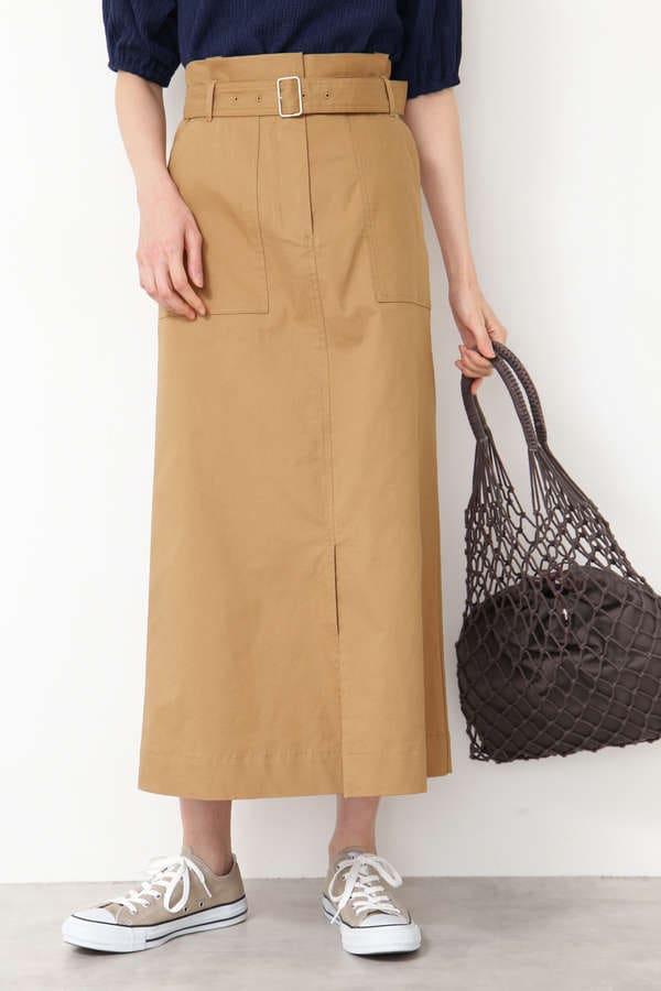 [洗える]ベイカーマキシスカート
