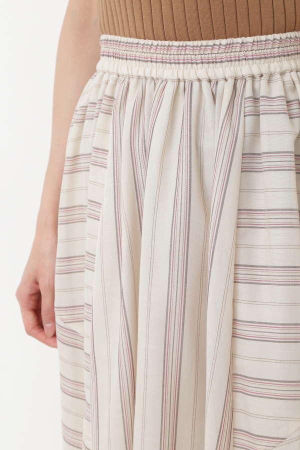 ランダムストライプアシメスカート