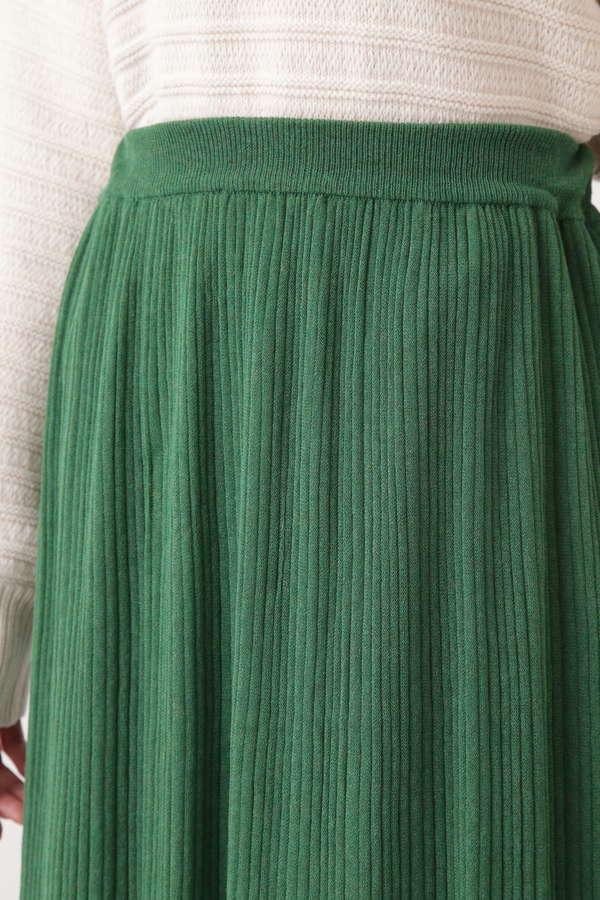 ラメプリーツニットスカート