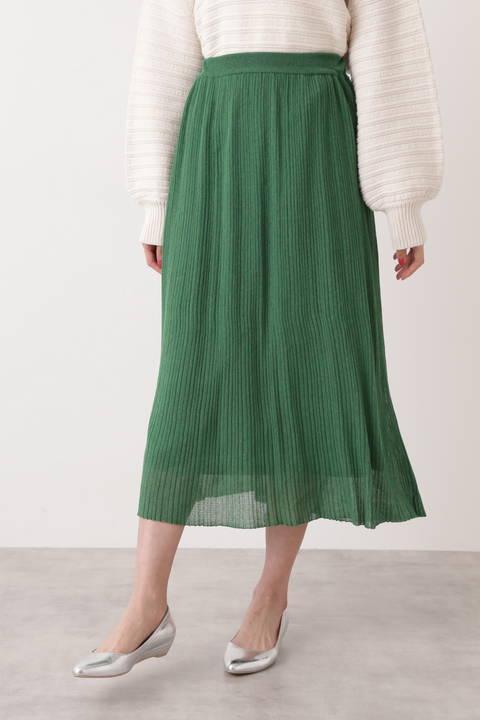 【先行予約_2月上旬-中旬入荷予定】ラメプリーツニットスカート