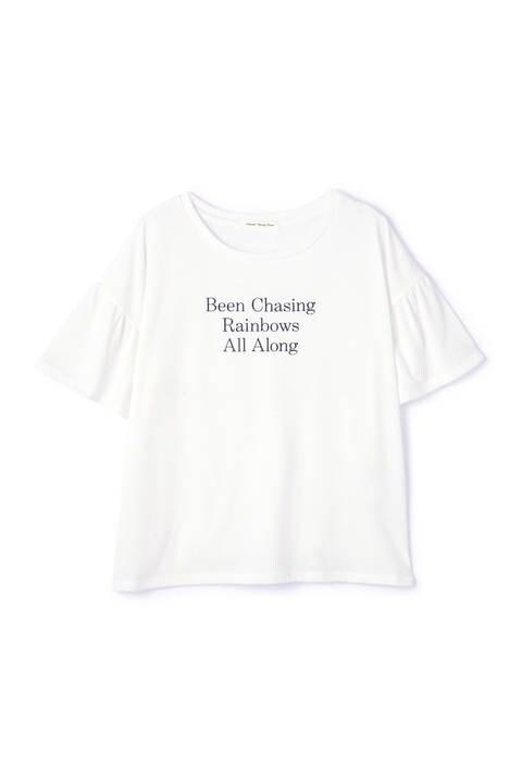 フレアスリーブロゴTシャツ