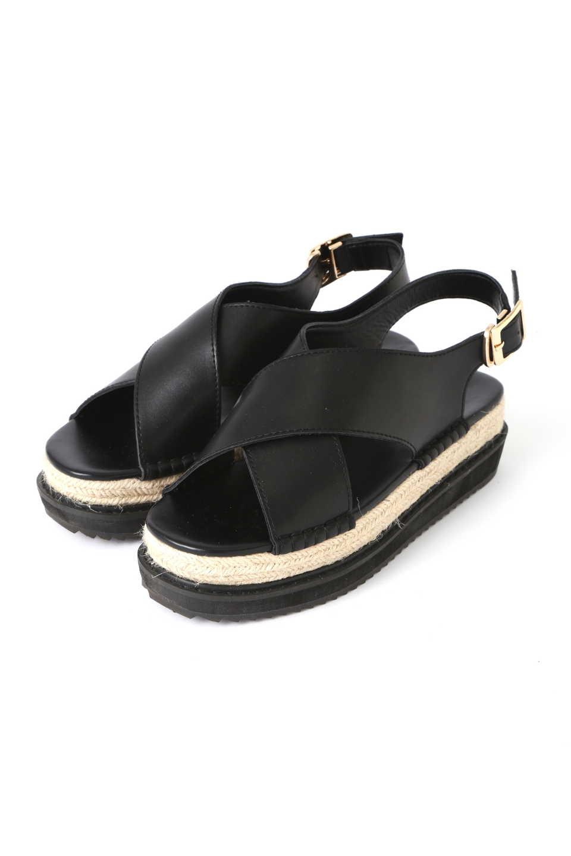 1131e015e8374  公式/NATURAL BEAUTY BASIC クロスバックストラップサンダル 女性 靴・