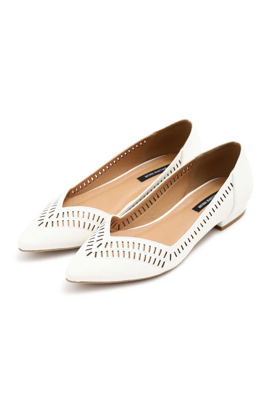 c56226801d19 【公式/NATURAL BEAUTY BASIC】カットワークフラット/女性/靴・パンプス