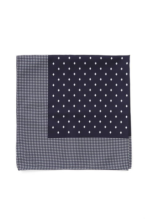 ダイヤパターンコンビスカーフ