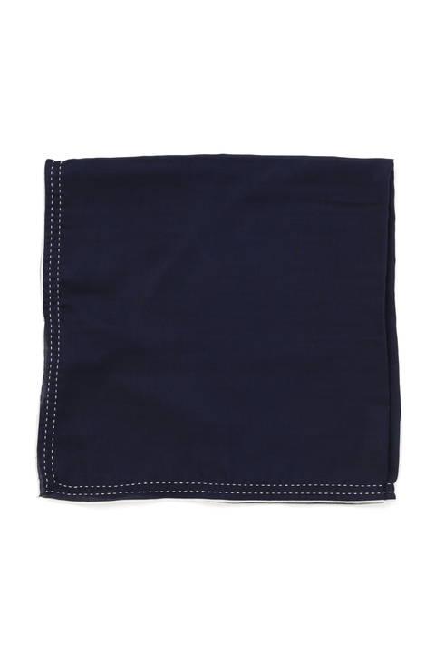 バイカラーステッチスカーフ
