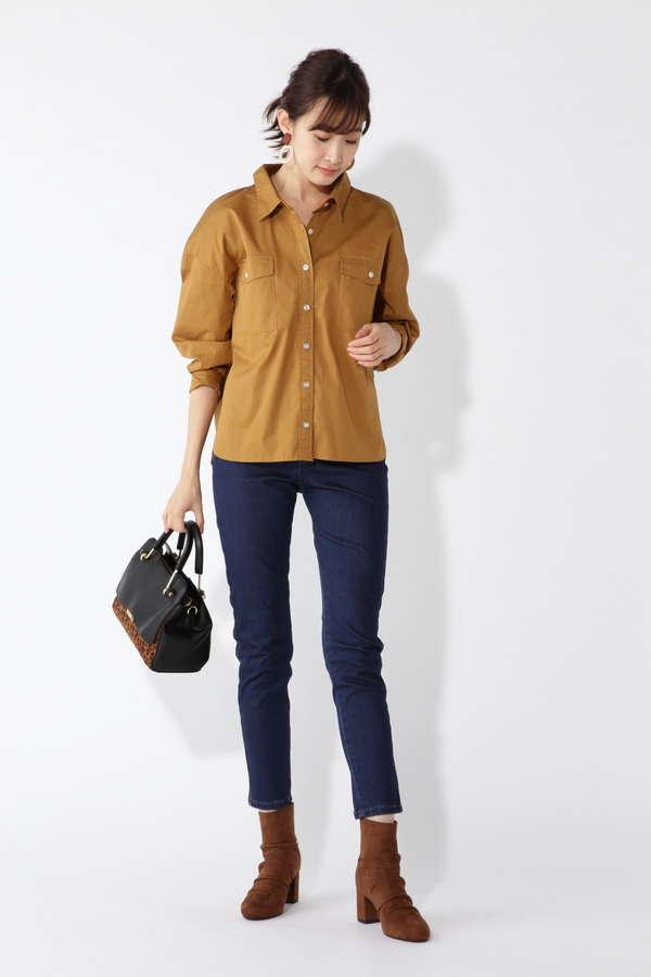 フラップポケットシャツ