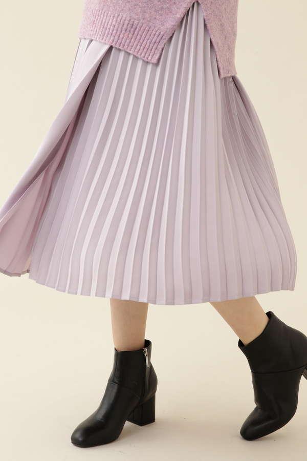 [洗える]コンビプリーツスカート