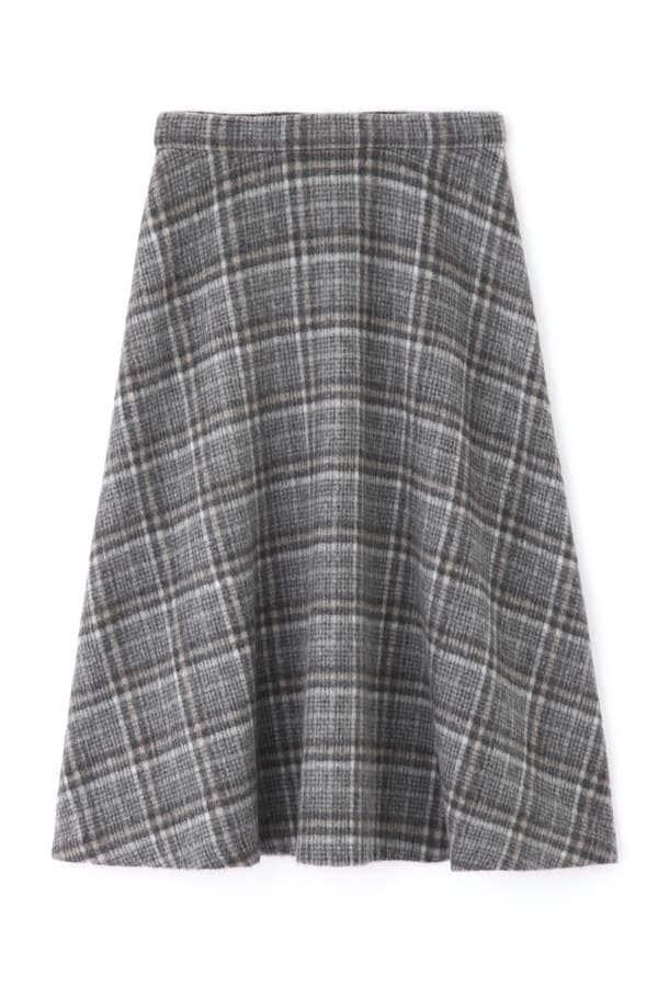 シャギーチェックフレアスカート