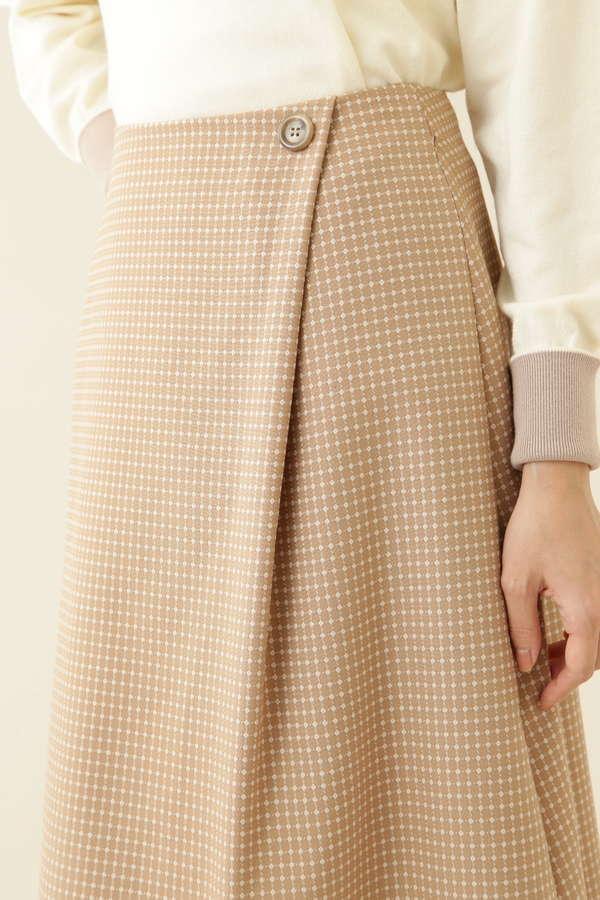 [洗える]ドビータックフレアスカート