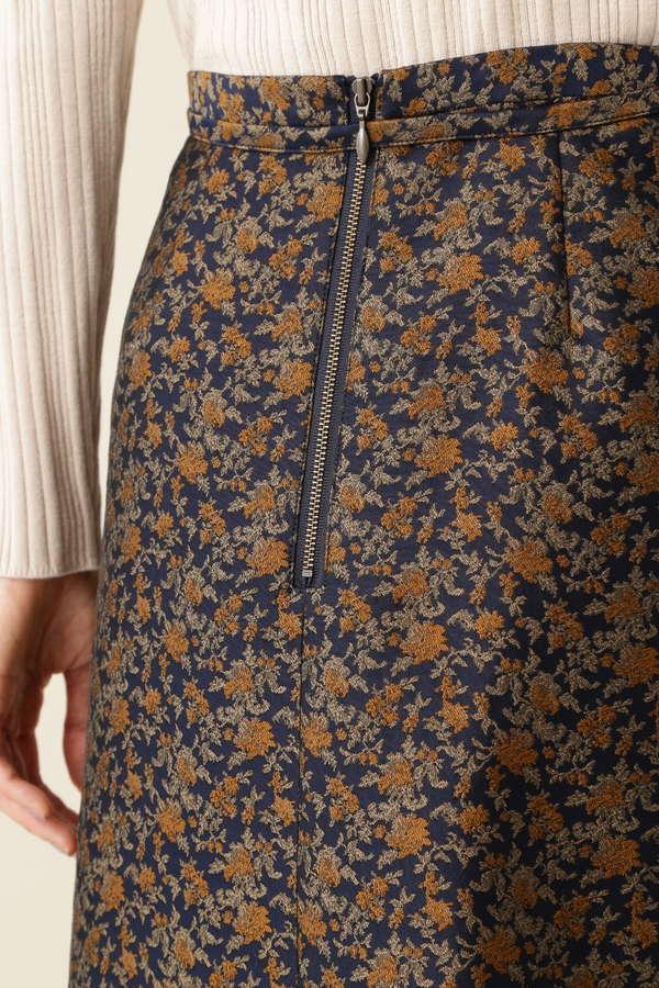 フラワージャガード マーメイドスカート