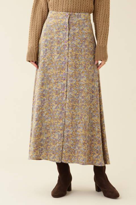 【先行予約_11月上旬-中旬入荷予定】ノスタルジックフラワープリントスカート