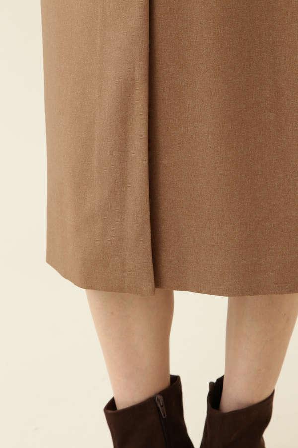 [洗える]ポケットディテールラップスカート