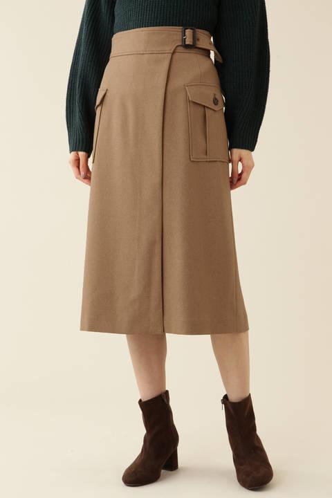【先行予約_11月中旬-下旬入荷予定】ポケットディテールラップスカート