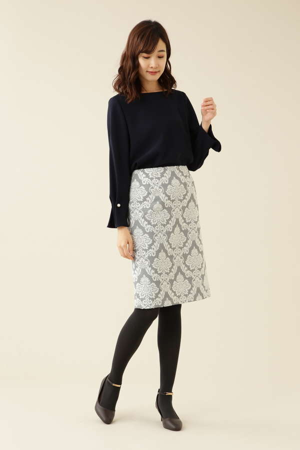 ロココジャガードタイトスカート