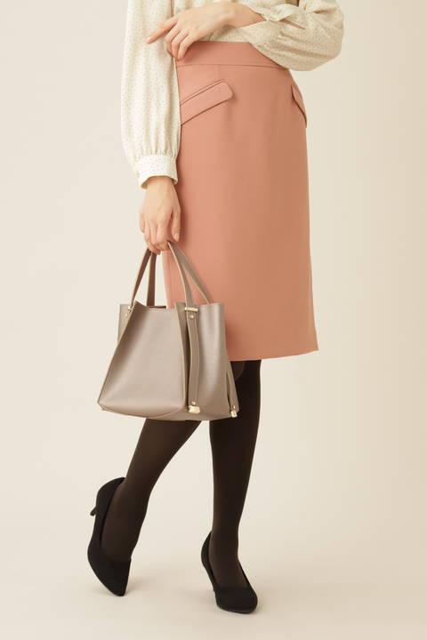 [洗える]フラップポケットタイトスカート
