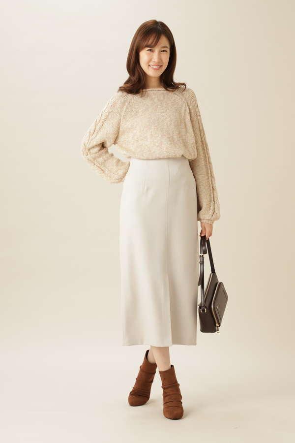 [洗える]ロングストレートスカート
