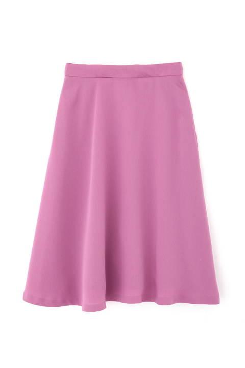 [洗える]カラーフレアスカート