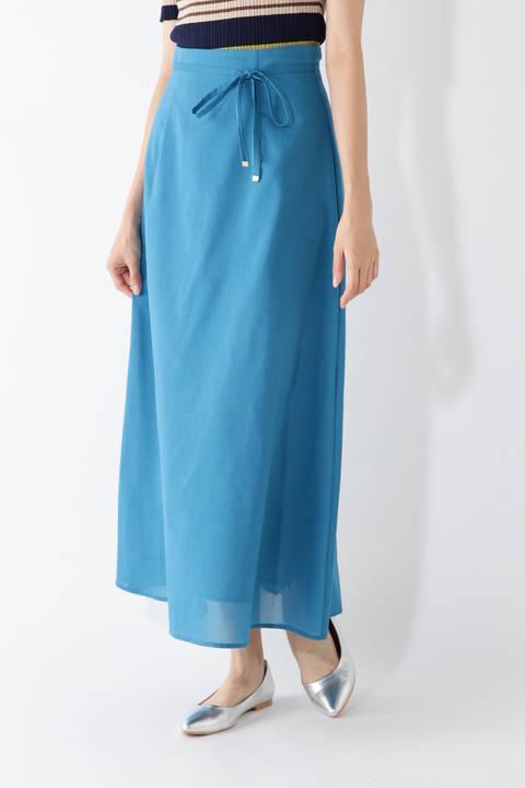[洗える]ボイルマキシスカート