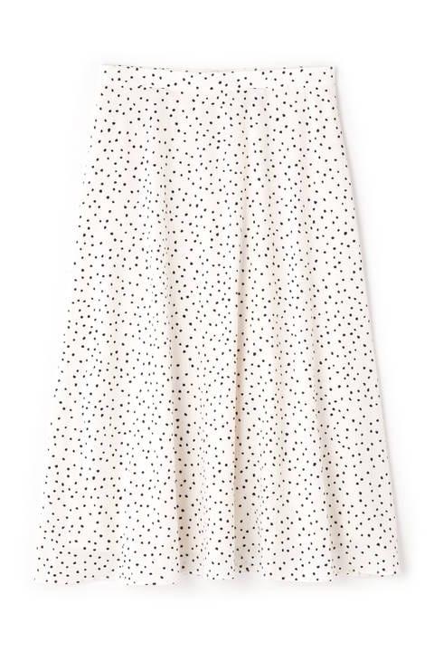 【追加生産予約7月中旬-下旬入荷予定】ランダムドットプリントスカート