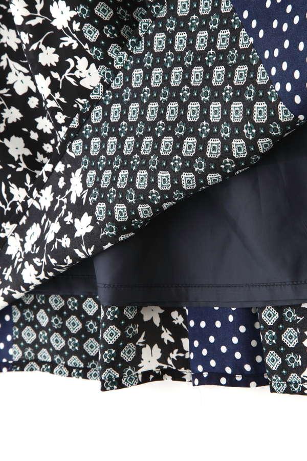 [洗える]パネルプリントスカート