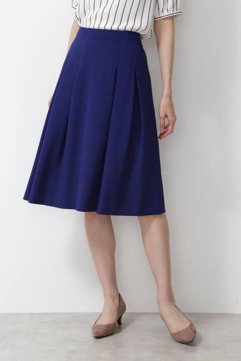 [洗える]ボックスタックフレアスカート