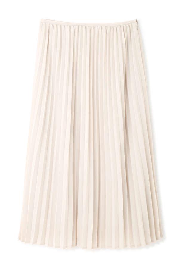 [洗える]マットサテンプリーツスカート