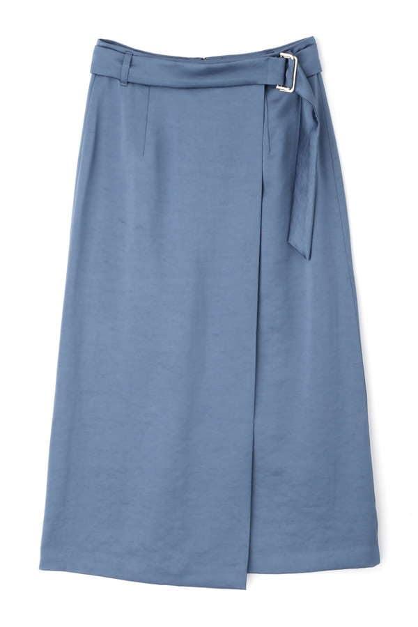 [洗える]サテンラップスカート