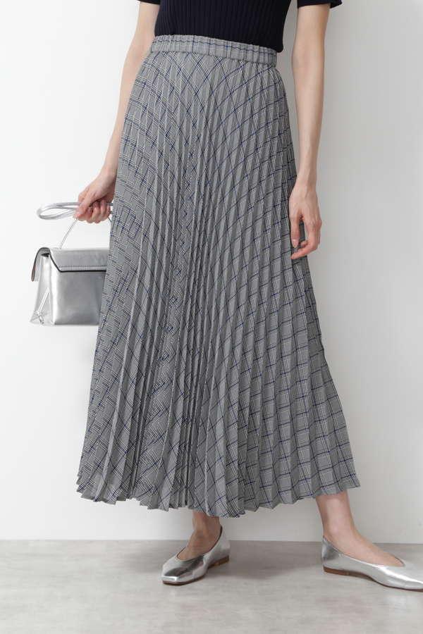 [洗える]チェックプリーツスカート