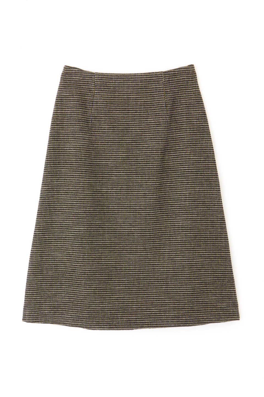 【公式/NATURAL BEAUTY BASIC】モールMIXチェックスカート/女性/スカート/ネイビー系/サイズ:S/(表生地)コットン 56% アクリル 44%(裏生地)ポリエステル 100%