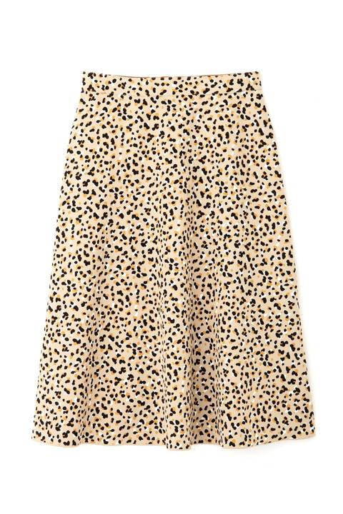 [洗える]2WAYリバーシブルアニマルプリントスカート