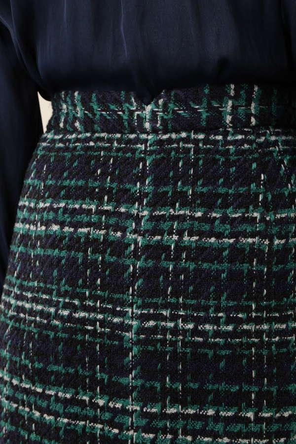 ツイードチェックストレートスカート