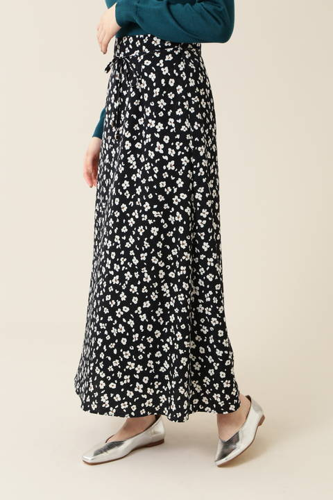 [洗える]レオパードプリントスカート