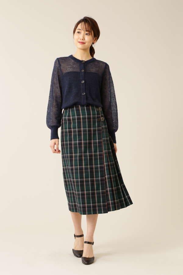 チェックキルトスカート
