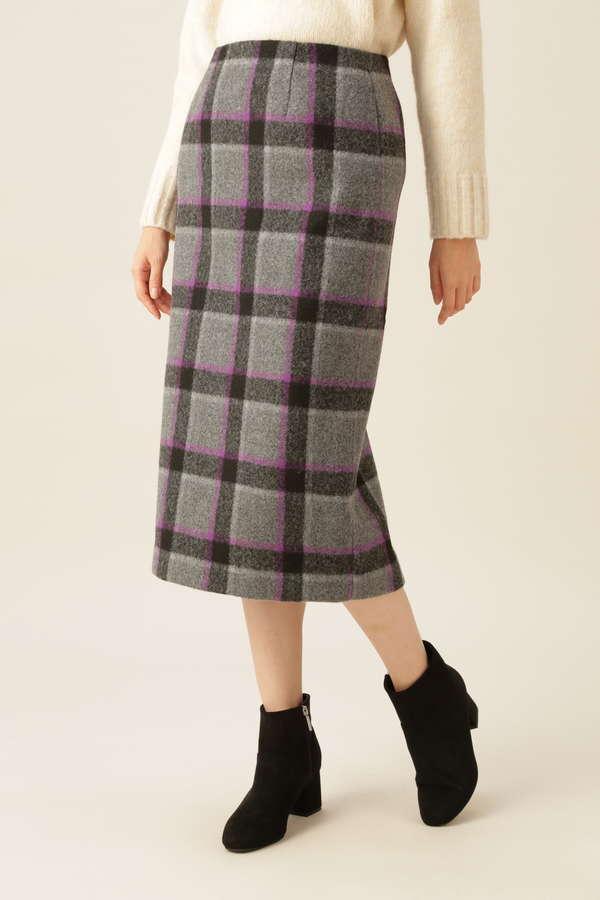 [洗える]ニードルパンチスカート