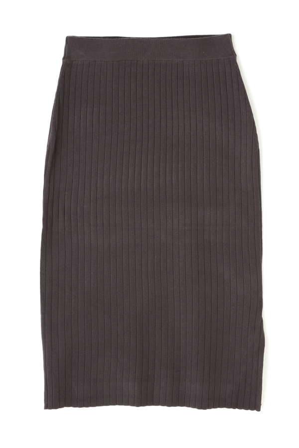 ワイドリブニットセットアップ スカート