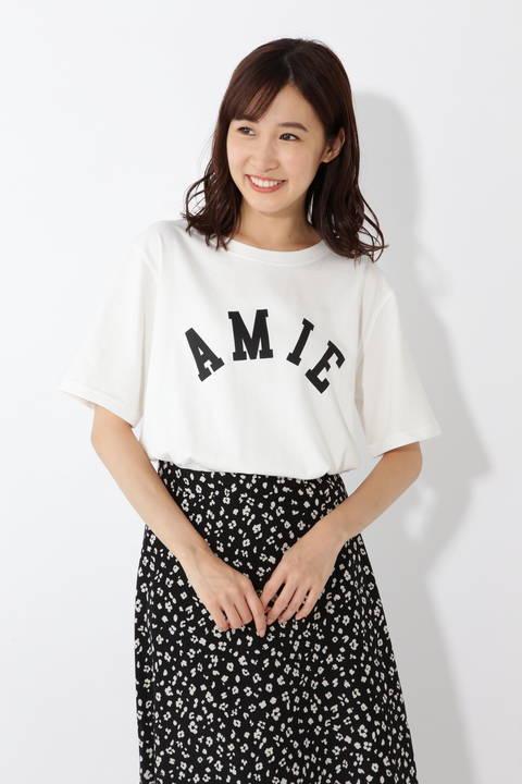AMIEプリントTシャツ
