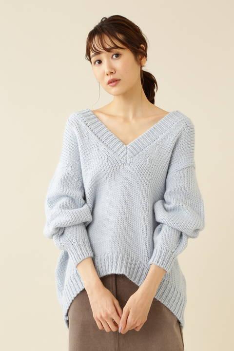 手編み風ニット