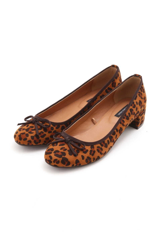 【公式/NATURAL BEAUTY BASIC】バレエパンプス/女性/靴・パンプス/キャメルヒョウ/サイズ:24.0/