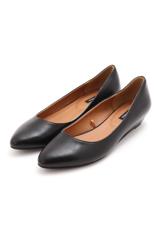 【公式/NATURAL BEAUTY BASIC】ポインテッドウェッジパンプス/女性/靴・パンプス/クロスムース/サイズ:23.5/(甲皮の使用材)合成皮革(底材の種類)合成底