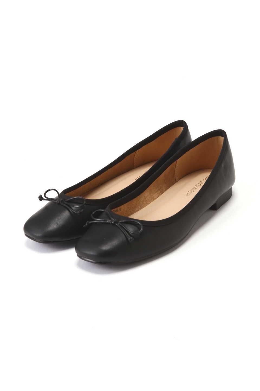 【公式/NATURAL BEAUTY BASIC】スクエアフィットバレエ/女性/靴・パンプス/クロスムース/サイズ:L/(甲皮の使用材)合成皮革(底材の種類)合成底