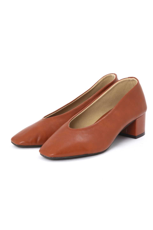【公式/NATURAL BEAUTY BASIC】スクエアソフトパンプス/女性/靴・パンプス/テラコッタ/サイズ:M/(甲皮の使用材)合成皮革(底材の種類)合成底