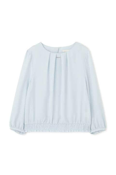 [ウォッシャブル]ノルディス裾シャーリングブラウス
