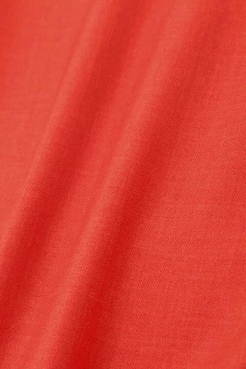 [ウォッシャブル]ジュエルスラブペプラムブラウス