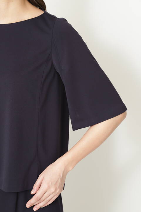 [ウォッシャブル]トリアセドライスムースブラウス